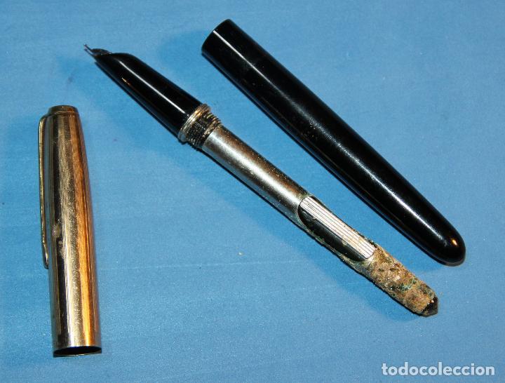 Plumas estilográficas antiguas: ANTIGUA PLUMA ESTILOGRAFICA ESPAÑOLA HUBBER - Foto 6 - 191504258