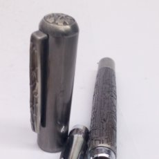 Stylos-plume anciens: PLUMA GRAN CALIDAD CUERPO ACERO. Lote 194067231