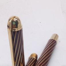 Stylos-plume anciens: PLUMA GRAN CALIDAD CUERPO DORADO Y ESMALTADO. Lote 194067997