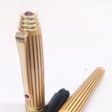 Stylos-plume anciens: PLUMA GRAN CALIDAD CUERPO DORADO. Lote 194070843