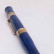 Stylos-plume anciens: PLUMA GRAN CALIDAD CUERPO MARMOLADO AZUL. Lote 194076782