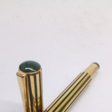 Stylos-plume anciens: PLUMA GRAN CALIDAD CUERPO DORADO Y ESMALTADO. Lote 194077561