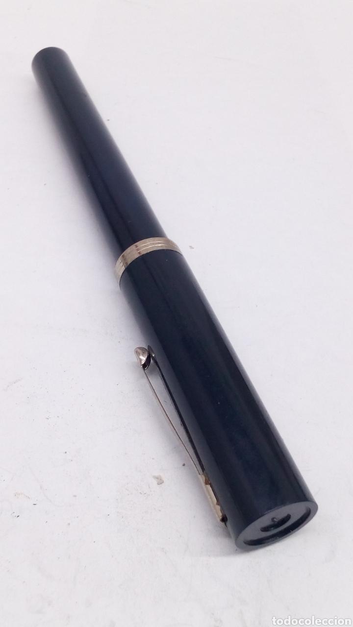 Plumas estilográficas antiguas: Pluma cuerpo lacado azul - Foto 2 - 194884572