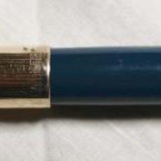Plumas estilográficas antiguas: EST002 PARKER 51 TEAL BLUE. CAPUCHÓN PLAQUÉ ORO 12K. TOPE NÁCAR. USA. AÑOS 50. Lote 194925053