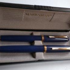 Plumas estilográficas antiguas: LOTE DE 2 PLUMAS MARKSMAN. Lote 195109207