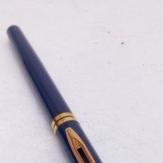 Plumas estilográficas antiguas: PLUMA WATERMAN LACADO AZUL. Lote 195375122
