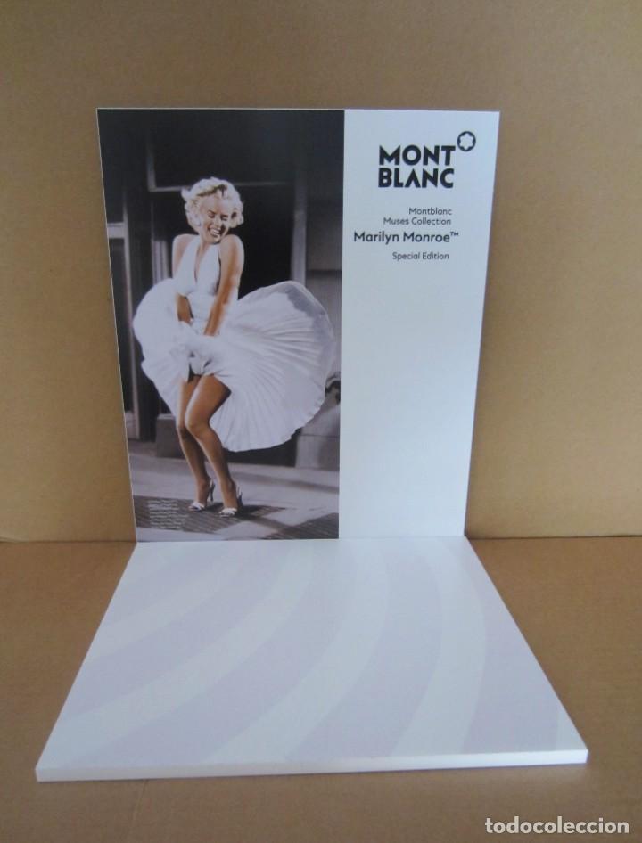 Plumas estilográficas antiguas: Fantástico cartel expositor Montblanc Muses Collection Marilyn Monroe Special Edition Pluma roller - Foto 2 - 195627342