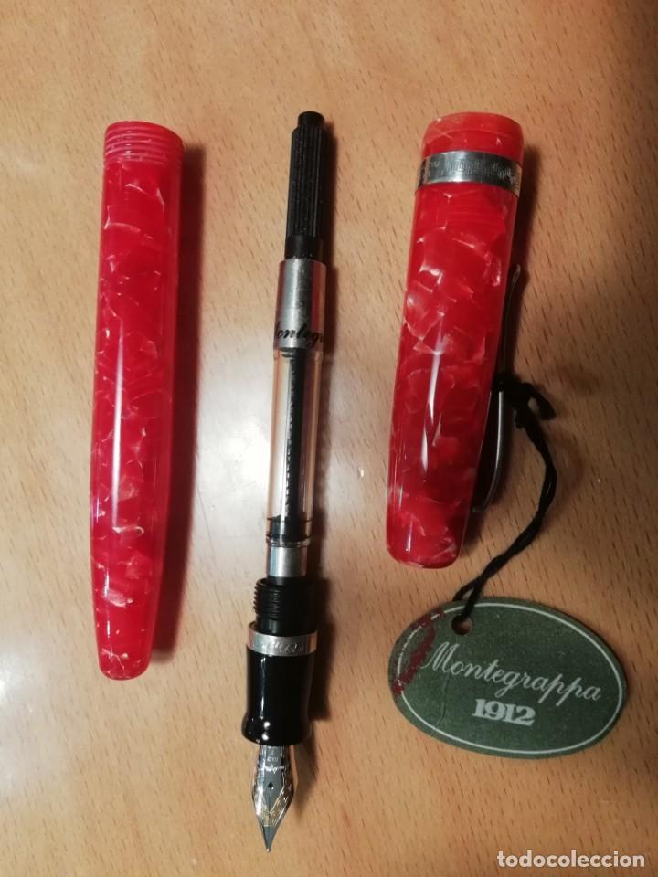 Plumas estilográficas antiguas: Pluma MONTEGRAPPA, ELMO MAROSTICA (RED), sin uso - Foto 2 - 195955180