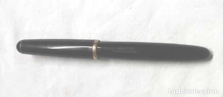 Plumas estilográficas antiguas: Kaweco Pluma estilográfica Transparent celuloide negro, Plumín oro 14 k, años 30 - Foto 3 - 198392213