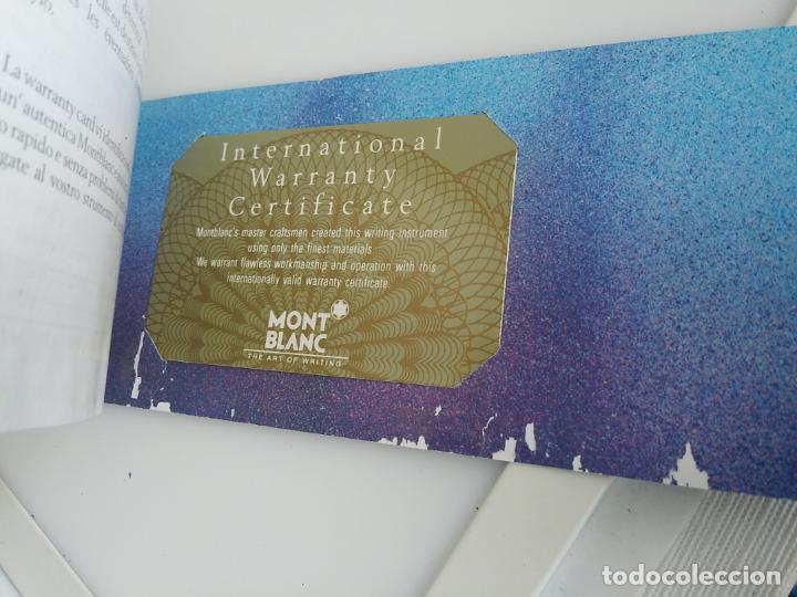 Plumas estilográficas antiguas: Montblanc libro garantía libro instrucciones - Foto 3 - 198973862