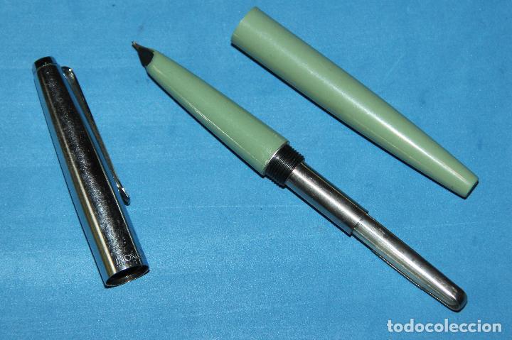 Plumas estilográficas antiguas: PLUMA ESTILOGRAFICA INOXCROM 33 - RARA - NUEVA - Foto 6 - 203263857