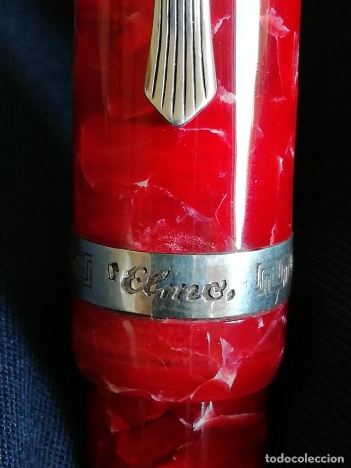 Plumas estilográficas antiguas: Pluma MONTEGRAPPA, ELMO MAROSTICA (RED), sin uso - Foto 8 - 195955180