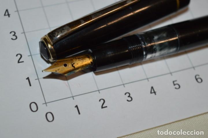 Plumas estilográficas antiguas: 3 PLUMAS antiguas y diferentes, IGNORO MARCA / SIN MARCAS o modelo - ¡Mira fotos y detalles! Lote 02 - Foto 10 - 209332976