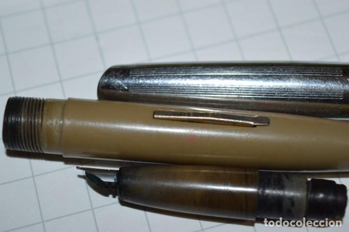 Plumas estilográficas antiguas: 3 PLUMAS antiguas / Diferentes MARCAS / modelos - ¡Mira fotografías y detalles! Lote 04 - Foto 10 - 209352477
