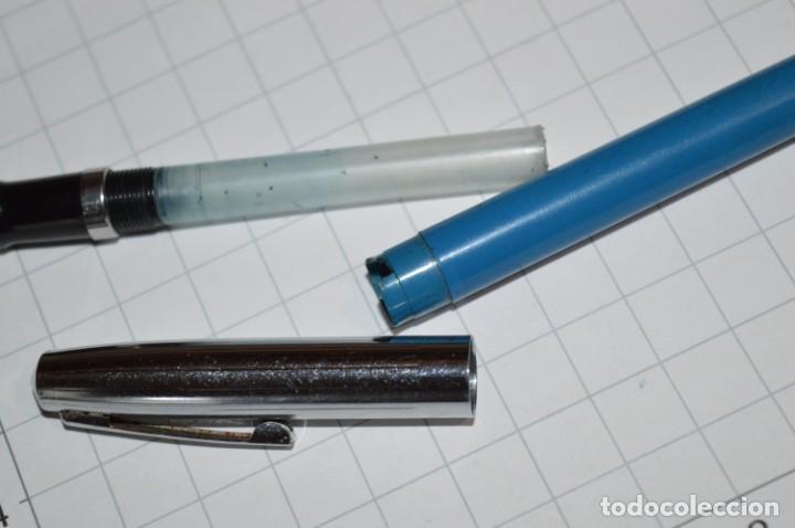 Plumas estilográficas antiguas: 3 PLUMAS antiguas / Diferentes MARCAS / modelos - ¡Mira fotografías y detalles! Lote 05 - Foto 14 - 209360876