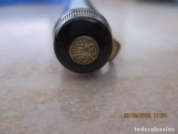 Plumas estilográficas antiguas: Pluma estilográfica Kaweco Diaphan 90F con oro de 14C 585 - Foto 4 - 209911478