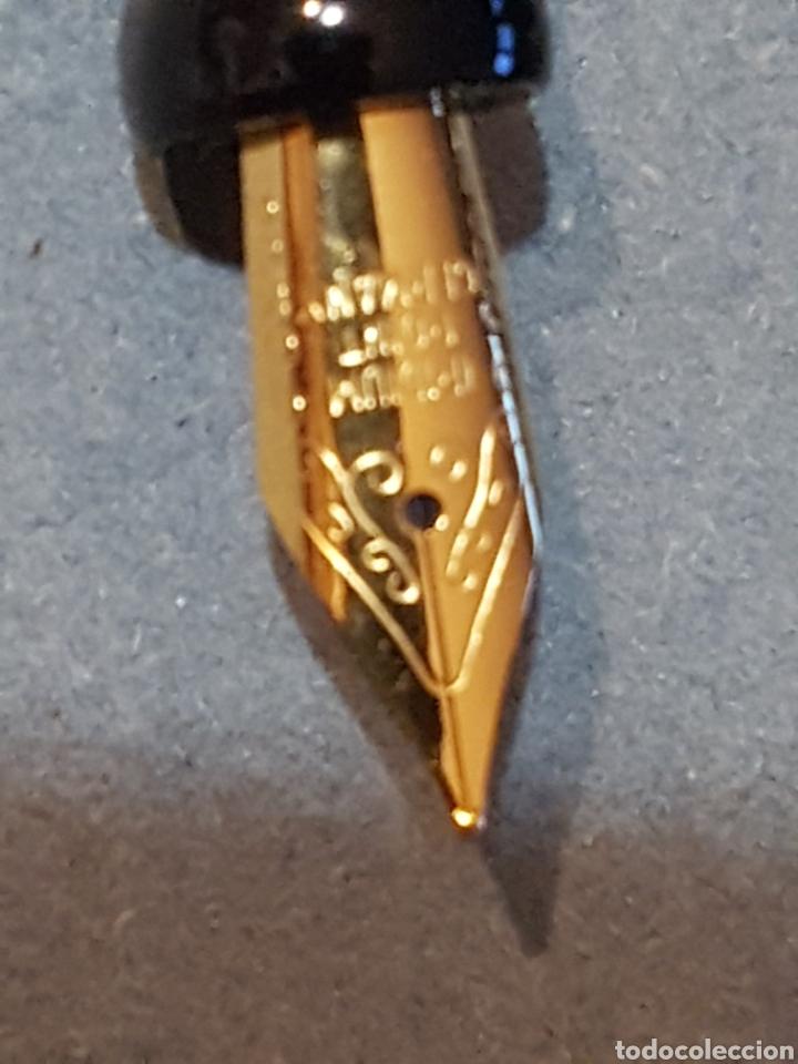 Plumas estilográficas antiguas: Pluma Estilográfica Hachette- Tompla con Cristal Swarovski y baño de oro. - Foto 4 - 210056653