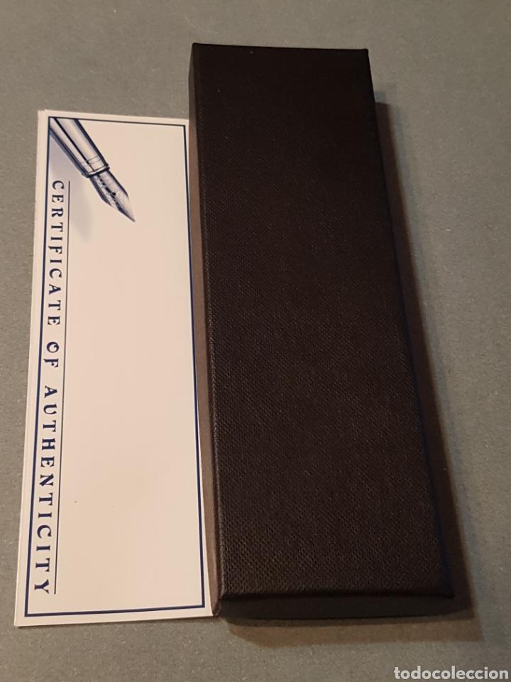 Plumas estilográficas antiguas: Pluma Estilográfica Hachette- Tompla con Cristal Swarovski y baño de oro. - Foto 5 - 210056653