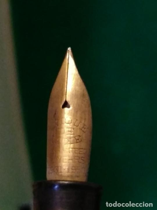 Plumas estilográficas antiguas: Pluma estilografica curioso plumín grabado unique de luxe 10 years 1931 1950 - Foto 5 - 211578141