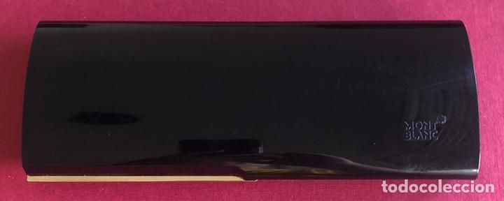 Plumas estilográficas antiguas: Pluma estilografica Montblanc Meisterstuck, de resina negra, con estuche original. - Foto 2 - 213380968