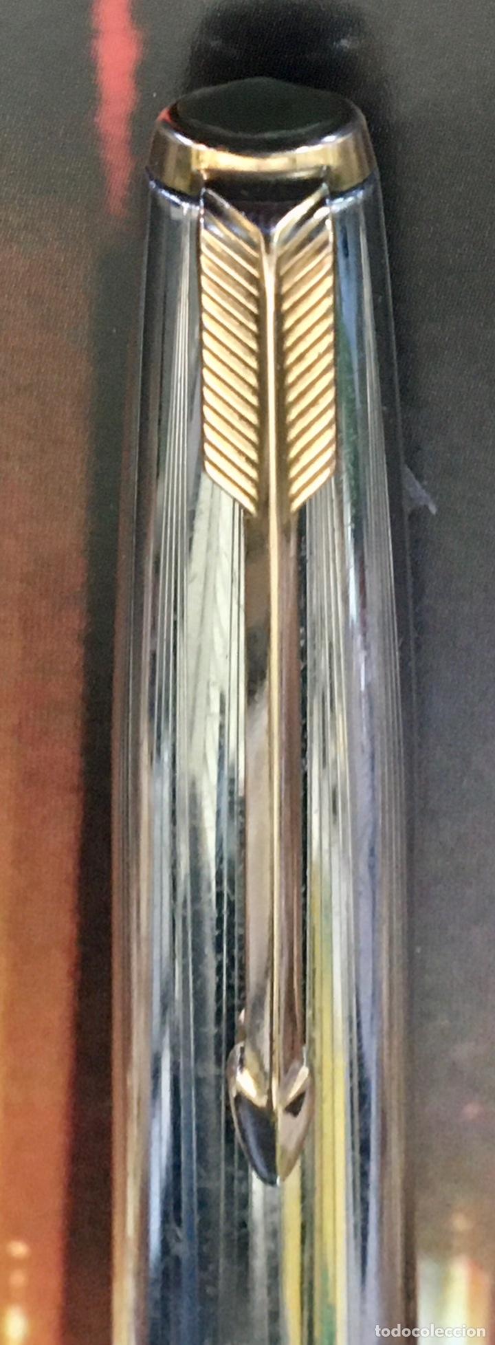 Plumas estilográficas antiguas: PARKER 51 R. SILVER 1950' - Foto 5 - 213399253
