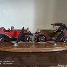 Plumas estilográficas antiguas: TINTERO COCHES MADERA. Lote 214148941