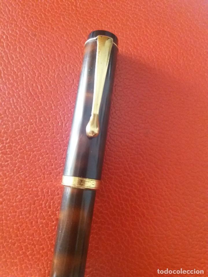 Plumas estilográficas antiguas: ESTILOGRAFICA DATOR NN 9050, MARRON. - Foto 3 - 214334253