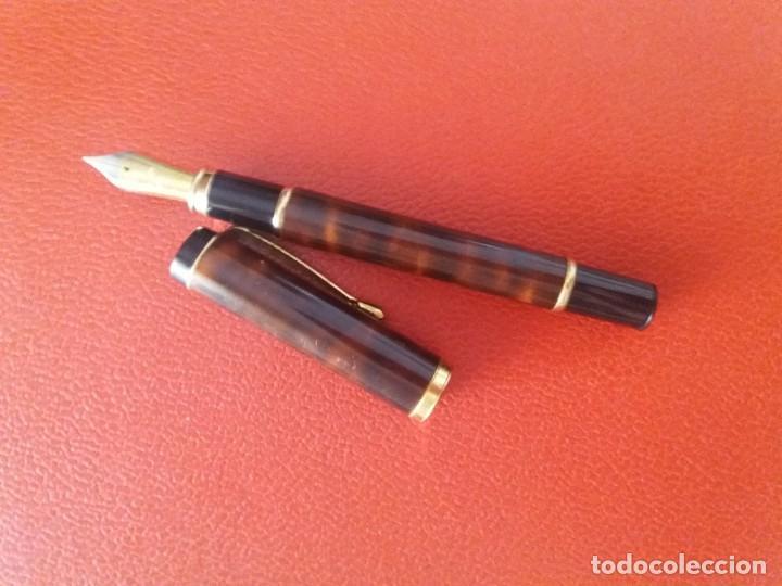 Plumas estilográficas antiguas: ESTILOGRAFICA DATOR NN 9050, MARRON. - Foto 5 - 214334253