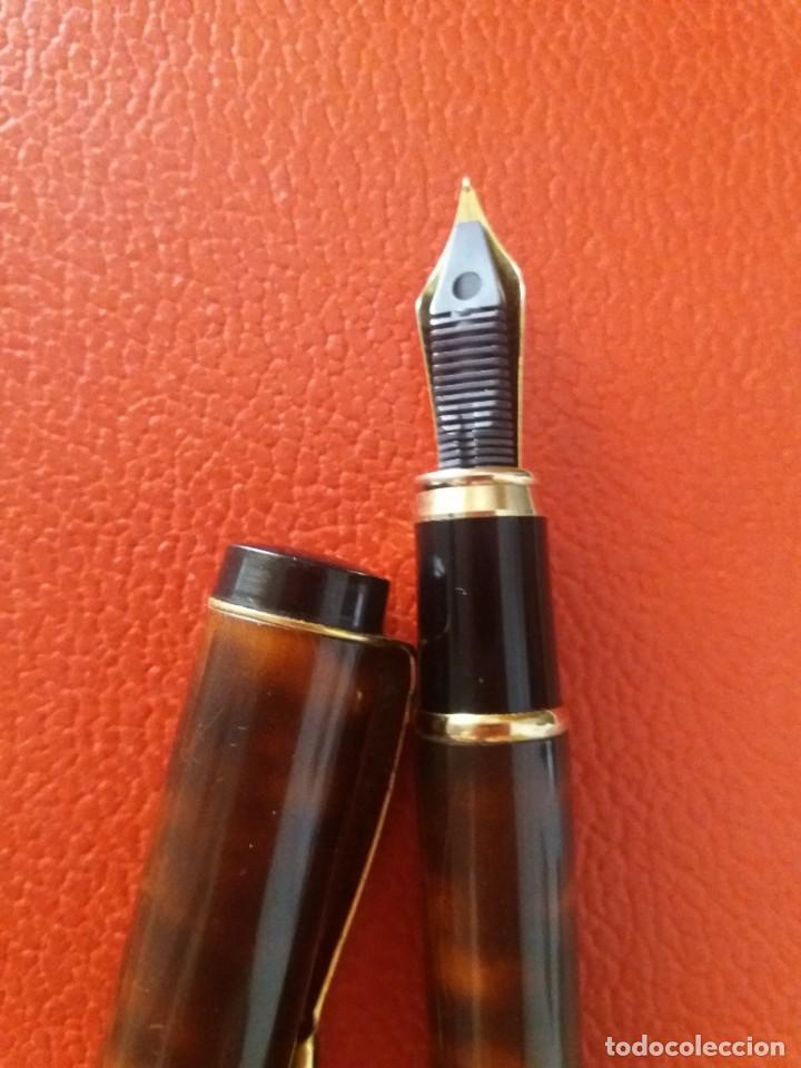 Plumas estilográficas antiguas: ESTILOGRAFICA DATOR NN 9050, MARRON. - Foto 7 - 214334253