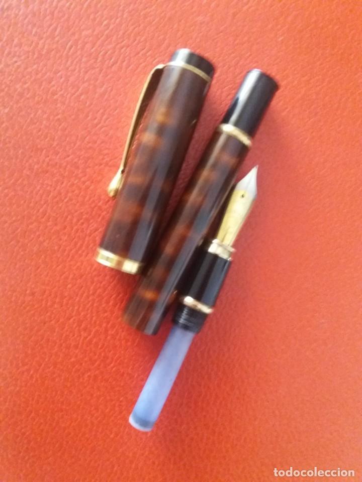 Plumas estilográficas antiguas: ESTILOGRAFICA DATOR NN 9050, MARRON. - Foto 8 - 214334253