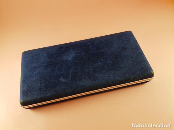 Plumas estilográficas antiguas: 853/pluma estilográfica-aurora talentum-italia-plumín oro original f 14 k-rodiado-perfecta-CAJA - Foto 4 - 111829855