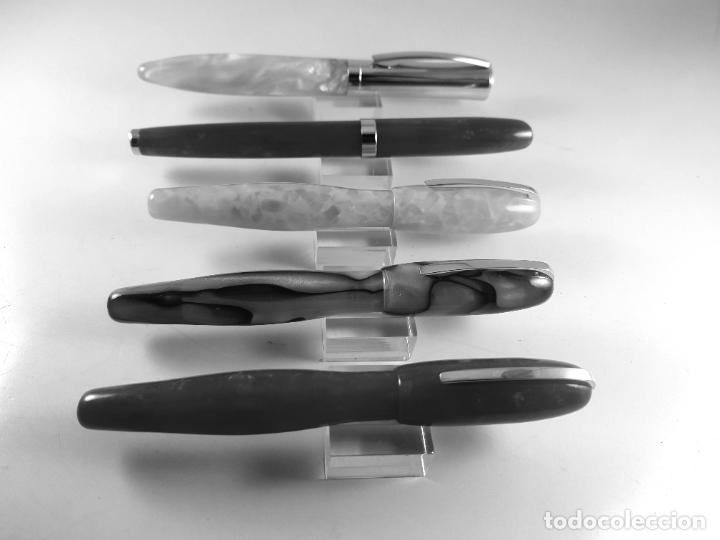 Plumas estilográficas antiguas: 000/LOTE 5 PLUMAS-DISEÑO-TIPO : DIONISIO LASUÉN-ACRÍLICOS COLORIDOS-NOS-VER FOTOS - Foto 3 - 217576343