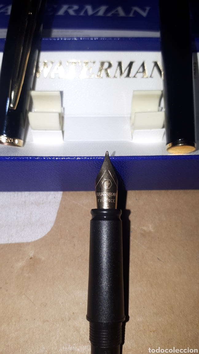 Plumas estilográficas antiguas: Pluma estilográfica WATERMAN PARIS LEER DESCRIPCION - Foto 3 - 219699347