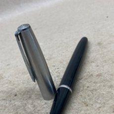 Plumas estilográficas antiguas: PLUMA INOXCROM 55 CUERPO LACADO NEGRO. Lote 221099776