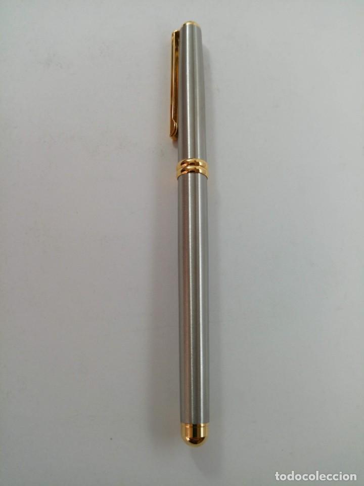 Plumas estilográficas antiguas: PLUMA INOXCROM NUEVA MODELO RIVIERA - Foto 2 - 221494481