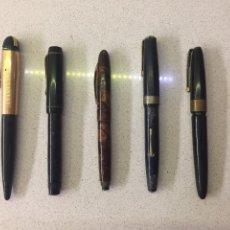 Penne stilografiche antiche: LOTE DE ESTILOGRÁFICAS VARIADAS PARA RESTAURAR O PIEZAS.. Lote 221796340
