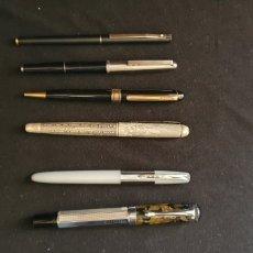 Plumas estilográficas antiguas: LOTE DE PLUMAS Y UN BOLI . -. Lote 222899991