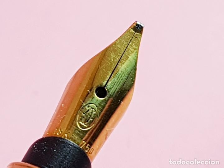 Plumas estilográficas antiguas: PLUMA ESTILOGRÁFICA-CARTIER-FRANCIA-LACA AZUL-PRECIOSA.BROAD-PERFECTA-VER FOTOS - Foto 22 - 222938626