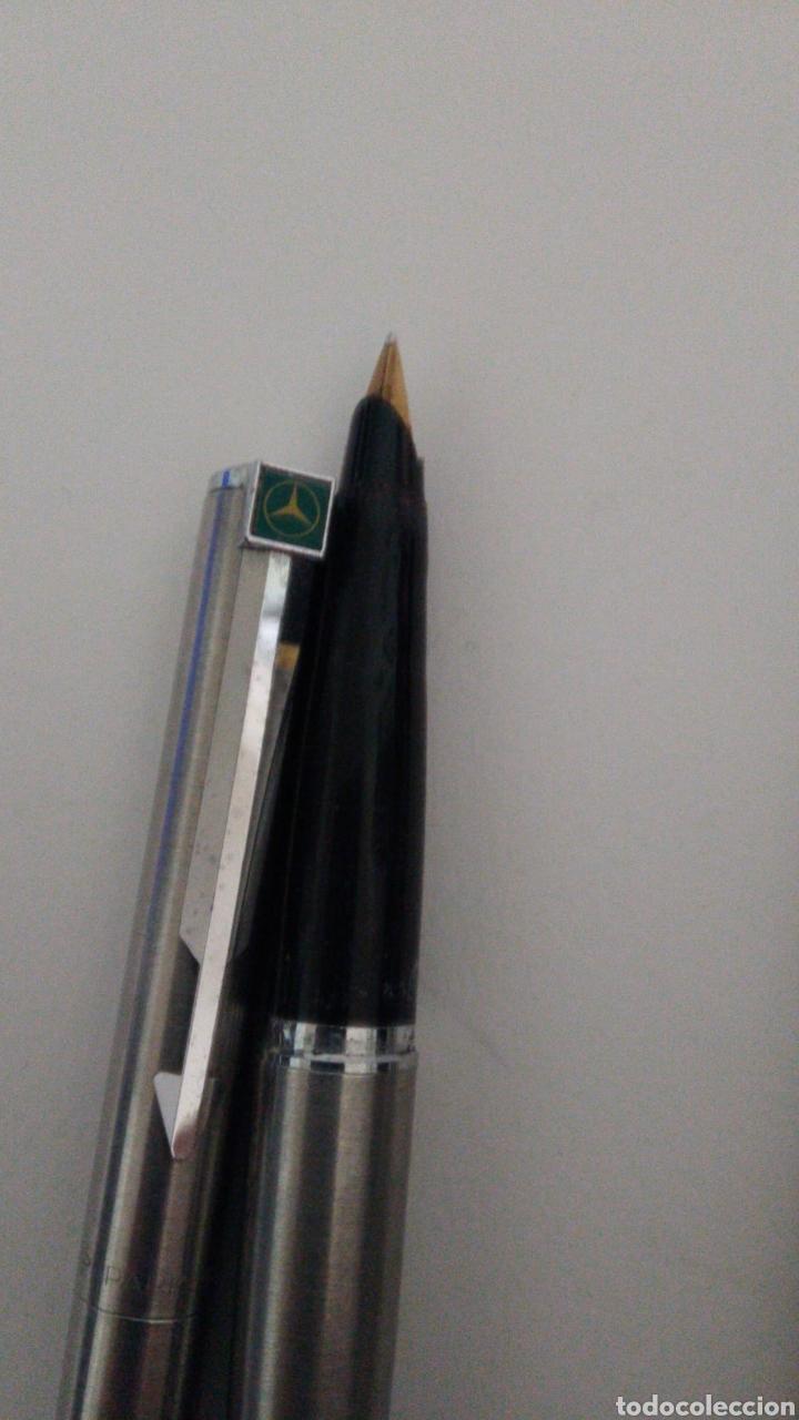 Plumas estilográficas antiguas: 2 bolígrafos y pluma estilográfica Parker. Un bolígrafo es de publicidad de la casa mercedes. - Foto 3 - 224143787