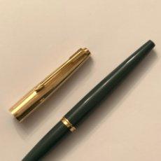 Plumas de tinta permanente antigas: PARKER MODEL0 45 LUXE GOLD - CAPUCHON 12K AÑOS 60. Lote 229450035