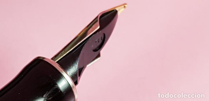 Plumas estilográficas antiguas: pluma estilográfica-parker duofold internacional black platinum-plumín original bicolor F-excelente - Foto 12 - 229529890