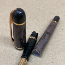 Plumas de tinta permanente antigas: PLUMA WATERMAN CUERPO MARMOLADO COMO NUEVA. Lote 231599865