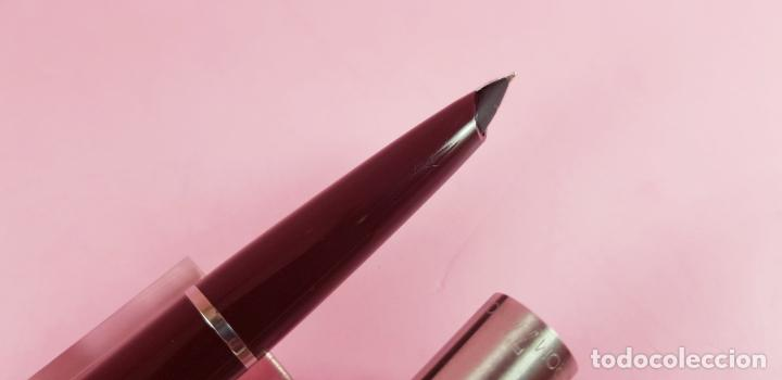Plumas estilográficas antiguas: 1997·/pluma estilográfica-inoxcrom 77-top macizo redondo convertidor móvil original-raro marrón oscu - Foto 10 - 233858555