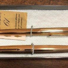 Penne stilografiche antiche: JUEGO ESTILOGRAFICA Y BOLIGRAFO PARKER 61 INSIGNIA. EN ESTUCHE ORIGINAL.. Lote 234475585