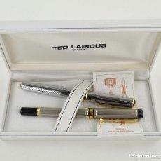 Plumas estilográficas antiguas: TED LAPIDUS - PARIS. PLUMA Y BOLÍGRAFO.. Lote 234841315