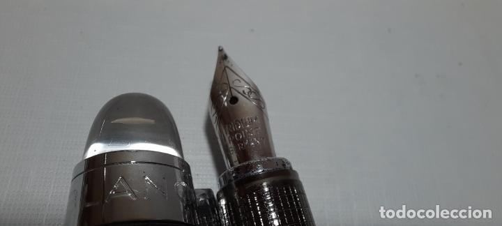 Plumas estilográficas antiguas: LOTE PLUMA ESTILOGRÁFICA Y BOLÍGRAFO MONTBLANC FALSO - MONT BLANC - Foto 3 - 234893500