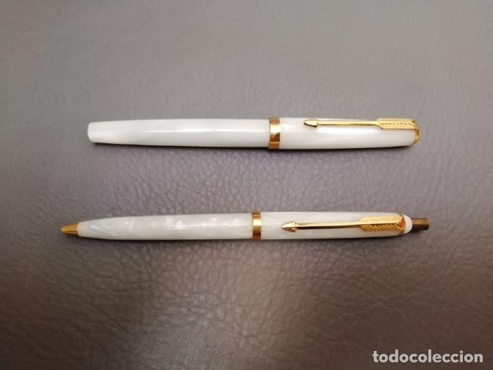 Plumas estilográficas antiguas: Conjunto pluma y bolígrafo de comunión - Foto 3 - 234916340