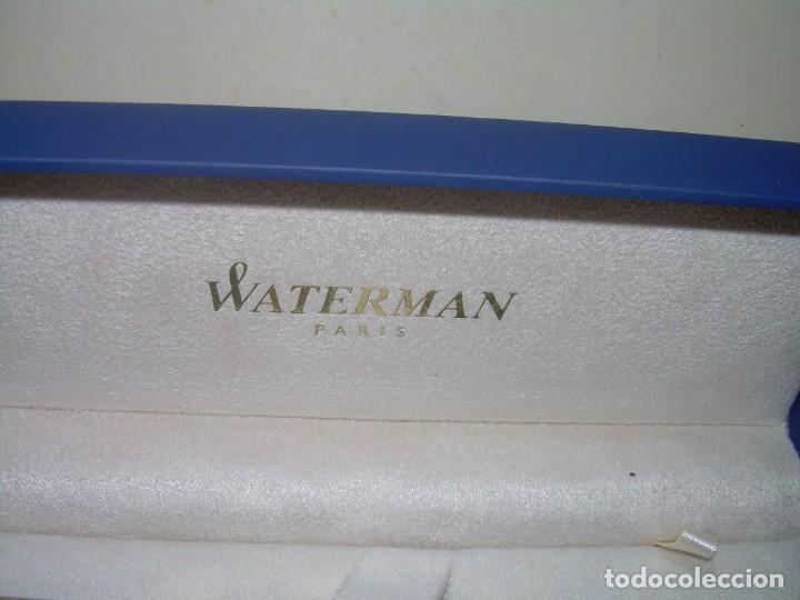 Plumas estilográficas antiguas: CAJA ORIGINAL CON DOS PLUMAS....WATERMAN. - Foto 2 - 235813915