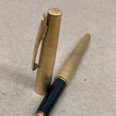 Plumas estilográficas antiguas: PLUMA SHEAFFER PLUMIN ORO 14KT CUERPO DORADO MODELO ESPECIAL. Lote 236509500