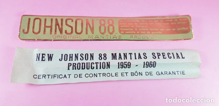 Plumas estilográficas antiguas: PLUMA ESTILOGRÁFICA-NEW JOHNSON MANTIAS SPECIAL PLEXIGLAS-FRANCIA-(1959/1960)-PAPELES-NEGRO+DORADO - Foto 22 - 238515195